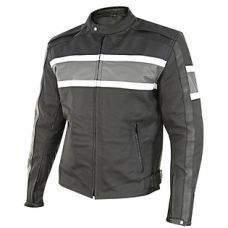 Xelement Mens Scrambler Black/Gray Matte Leathe...